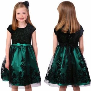 Jona Michelle Party Holiday Dress 4T + NWT Tights